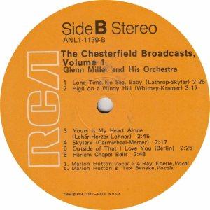 MILLER GLENN - RCA 1139 - B
