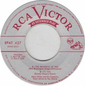 MILLER GLENN - RCA EP 427 1