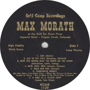 MORATH MAX - GOLD CAMP 1129 - RA