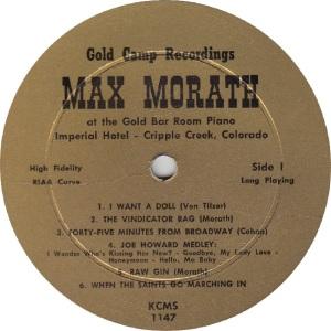 MORATH MAX - GOLD CAMP 1148 - RA