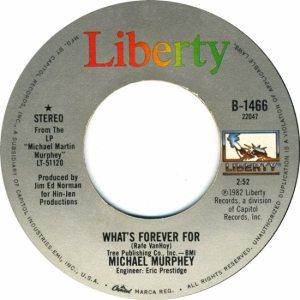 MURPHEY MICHAEL - LIBERTY 1466 - 6-82 #1