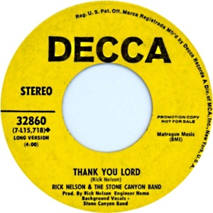 NELSON RICK - DECCA - THANK YOU LORD DJ