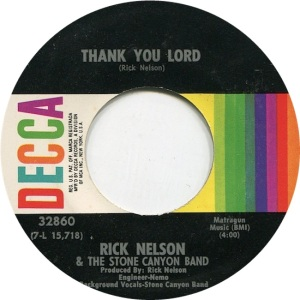 NELSON RICK - DECCA - THANK YOU LORD