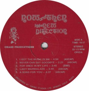NEW DIRECTION - CHASE 101 A