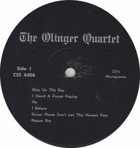 OLINGER QUARTET - CENTURY 6406