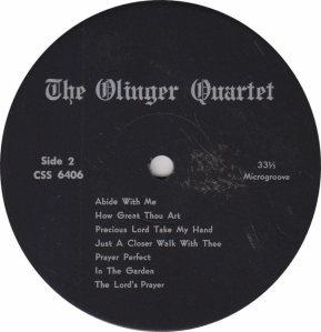 OLINGER QUARTET - CENTURY 6406_0001