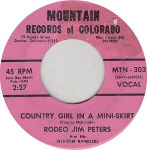 PETERS RODEO JIM - MOUNTAIN 303