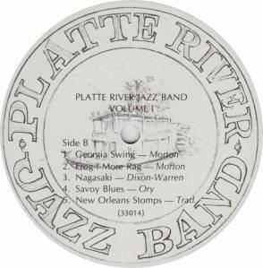 PLATTE RIVER JAZZ BAND - PRJB 33014 - RB