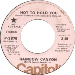 RAINBOW CANYON 45 3876 B