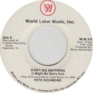 RICHMOND PETE - WORLD LABEL 379_0001