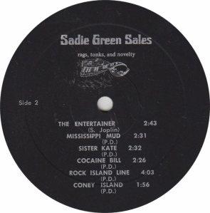 SADIE GREEN SALES - STACKOLEE - RB