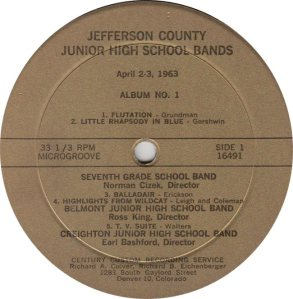 SCHOOL - CENTURY 16491 - JR HIGH BANDS 1963a (1)