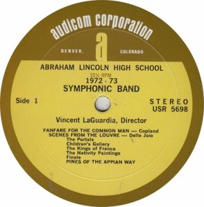SCHOOL - LINCOLN HIGH - AUDICOM 5898 A