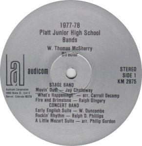 SCHOOL - PLATT JHS 77-78