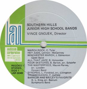 SCHOOL - SOUTHERN JR HIGH - AUDICON 8049