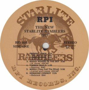 STARLITE RAMBLERS - RPI 10 - RA