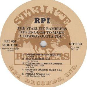 STARLITE RAMBLERS - SL 1 R