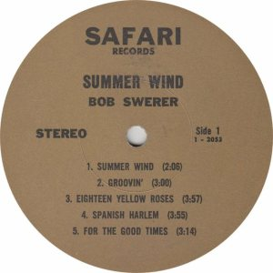 SWERER BOB - SAFARI 2053