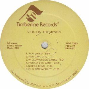 THOMPSON VERLON - TIMBERLINE 710 AM (5)