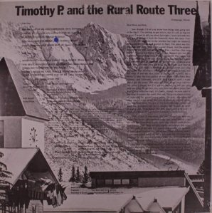 TIMOTHY P 3 LP SET B