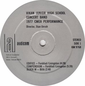 VIKAN SCHOOL - AUDICOM 9768 RA
