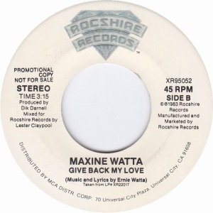 WATTA MAXINE - ROCSHIRE 95052 B