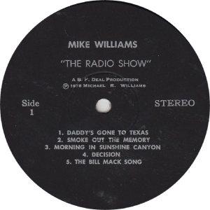 WILLIAMS MIKE - BFDEAO 1 - RA