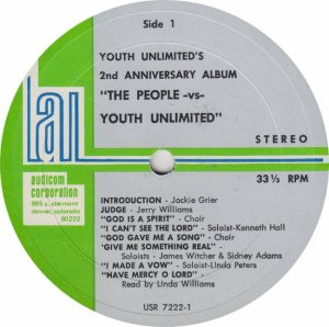 YOUTH UNLIMITED - AUDICOM 7222 - RA