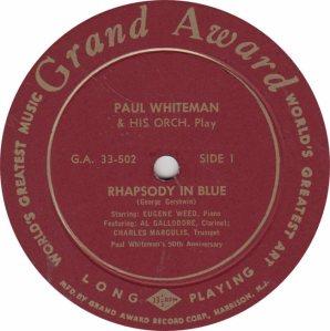 WHITEMAN PAUL - GRAND AWARD 502
