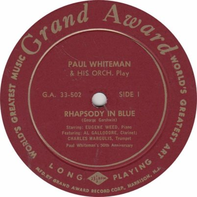 WHITEMAN PAUL - GRAND AWARD 502
