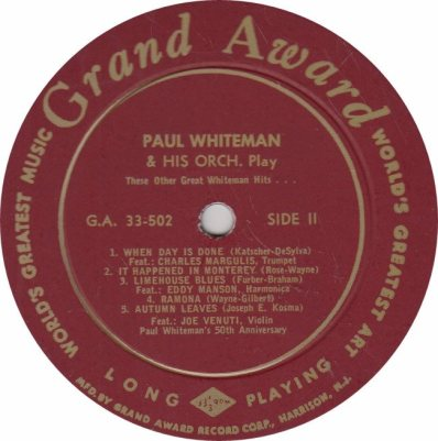 WHITEMAN PAUL - GRAND AWARD 502_0001