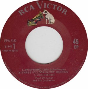 WHITEMAN, PAUL & OTHERS - RCA EP 5132 - A