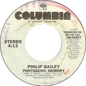 BAILEY PHILIP - COLUMBIA 4607 DJ