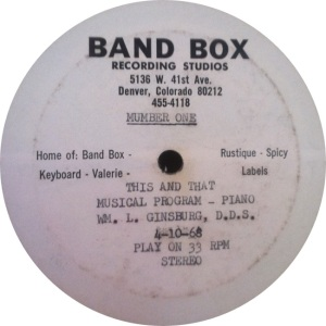 BAND BOX LP 01 - GINSBURG WILLIAM DDIS A FINAL