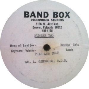 BAND BOX LP 01 - GINSBURG WILLIAM DDIS B FINAL