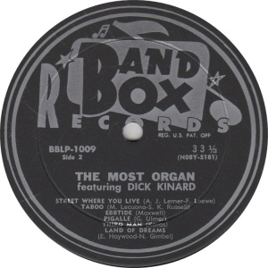 BAND BOX LP 1009 - KINARD DICK (4)