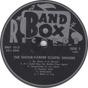BAND BOX LP 1012 - SHOOK PARKER 1