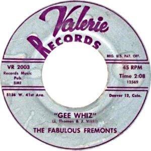 FABULOUS FREMONTS - VALERIE GEE WHIZ