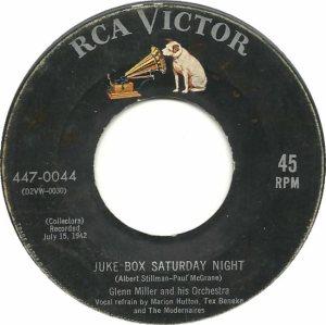 MILLER GLENN - RCA 44 - 1955 B