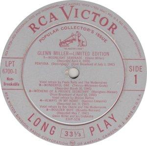 MILLER GLENN - RCA 6700 01