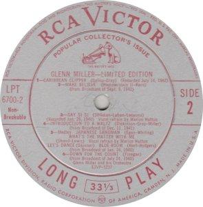 MILLER GLENN - RCA 6700 02