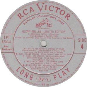 MILLER GLENN - RCA 6700 04