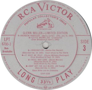 MILLER GLENN - RCA 6700 08