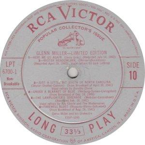 MILLER GLENN - RCA 6700 10