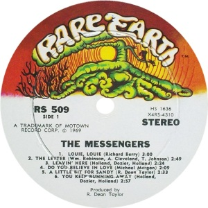 RARE EARTH 509 - MESSENGERS A