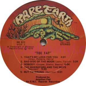 RARE EARTH 511 - TOE FAT A