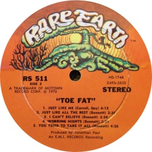 RARE EARTH 511 - TOE FAT B