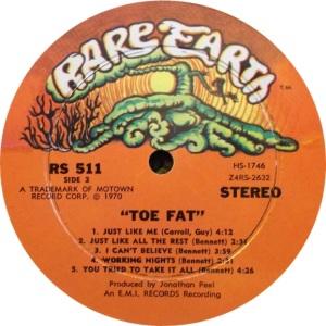 RARE EARTH 511 - TOE FAT B