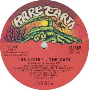 RARE EARTH 521 - CATS 1