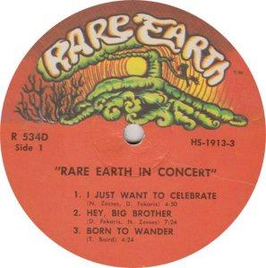 RARE EARTH 534 - RARE EARTH 1